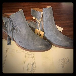 New BORN Monikah Burnished Suede Ankle Boot